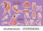 vector ballet set. ballerina... | Shutterstock .eps vector #1939058281
