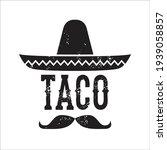 sombrero and mustache mexican... | Shutterstock .eps vector #1939058857