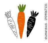 set of carrots on a white... | Shutterstock .eps vector #1939067131