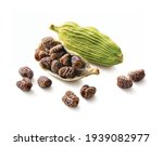 Cardamom Pods And Seeds...