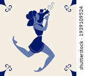 illustrated ceramic tile.... | Shutterstock .eps vector #1939109524