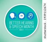 better hearing and speech month ... | Shutterstock .eps vector #1939112674