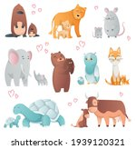 collection of animals mom and...   Shutterstock . vector #1939120321