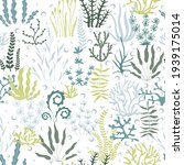 sea seamless of seaweed and... | Shutterstock .eps vector #1939175014