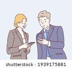 business partner discuss about... | Shutterstock .eps vector #1939175881