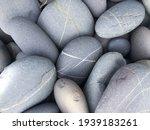 Pile Sea Gray Stones Background ...