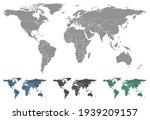 world map vector outlines... | Shutterstock .eps vector #1939209157