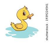 duck animal kids drawing...   Shutterstock .eps vector #1939224541