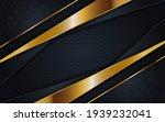 abstract dark grey and golden...   Shutterstock .eps vector #1939232041