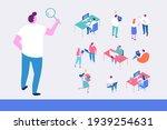 isometric cartoon office people ...   Shutterstock .eps vector #1939254631