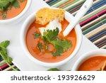 closeup of three bowls of fresh ... | Shutterstock . vector #193926629