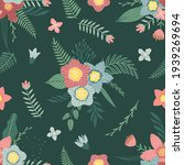 seamless pattern with flowers...   Shutterstock .eps vector #1939269694