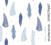 seamless pattern with blue...   Shutterstock .eps vector #1939270687