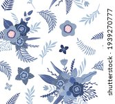 seamless pattern with blue...   Shutterstock .eps vector #1939270777