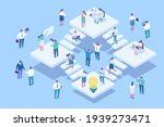isometric office people vector... | Shutterstock .eps vector #1939273471