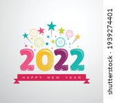 2022 a happy new year greeting... | Shutterstock .eps vector #1939274401