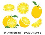 cartoon lemon illustration set...   Shutterstock .eps vector #1939291951