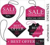 set ribbon banner and label...   Shutterstock .eps vector #1939327621