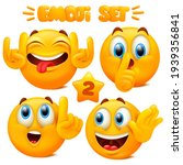collection of yellow emoji...   Shutterstock .eps vector #1939356841