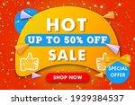hot sale horizontal banner...   Shutterstock .eps vector #1939384537