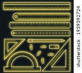 ruler tape icon set. outline... | Shutterstock .eps vector #1939392724