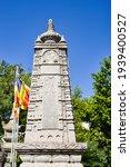 Small photo of NNYCHANG, VIETNAM - January 20, 2020 Long Sean Temple, Nha Trang City, Long Sean pagoda, statue, landmarks.