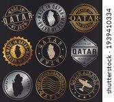 qatar business metal stamps.... | Shutterstock .eps vector #1939410334