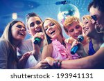portrait of joyous guys and... | Shutterstock . vector #193941131