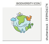 ecosystem color icon. living... | Shutterstock .eps vector #1939426174