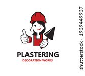 icon of lady plasterer in... | Shutterstock .eps vector #1939449937