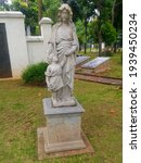 Mother And Child Marble Statue...