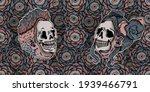 boy  girl and eye roses...   Shutterstock . vector #1939466791
