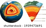 isolated earth plates tectonic... | Shutterstock .eps vector #1939473691