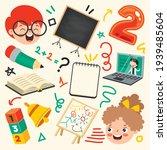 school supplies for children... | Shutterstock .eps vector #1939485604