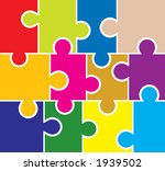 puzzle background  elements for ... | Shutterstock .eps vector #1939502