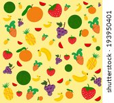 fruit vector background | Shutterstock .eps vector #193950401