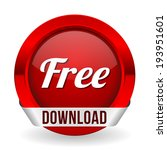 red round free download button...