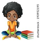 background,black,book,bookworm,brown,cartoon,clip-art,clipart,complexion,curl,curly,dark,design,drawing,female