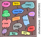 vector set of speech bubbles....   Shutterstock .eps vector #1939534501