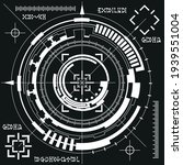 futuristic hud elements. on a... | Shutterstock .eps vector #1939551004