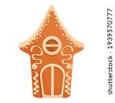 tasty gingerbread icon. cartoon ... | Shutterstock .eps vector #1939570777