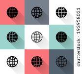 illustration of black globe... | Shutterstock .eps vector #193958021