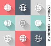 illustration of white globe... | Shutterstock .eps vector #193958024