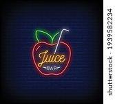 Juice Bar Logo Neon Signs Style ...