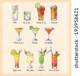 cocktail menu   Shutterstock .eps vector #193958621