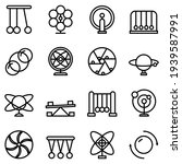 perpetual motion icons set....   Shutterstock .eps vector #1939587991