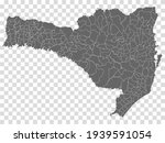 blank map santa catarina of...