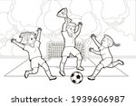 Coloring Book  Soccer Girls...