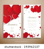 lovely wedding invitation. a... | Shutterstock .eps vector #193962137