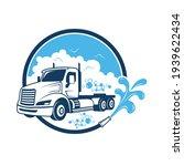 illustration of a trailer truck ...   Shutterstock .eps vector #1939622434